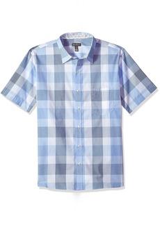 Van Heusen Men's Never Tuck Slim Fit Printed Short Sleeve Shirt