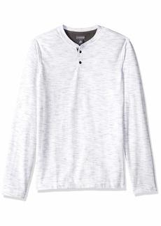 Van Heusen Men's Slim Fit Never Tuck Long Sleeve Henley Shirt white bright white