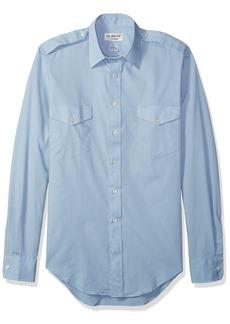 """Van Heusen Men's Pilot Dress Shirt Long Aviator  17.5"""" Neck 34""""-35"""" Sleeve"""