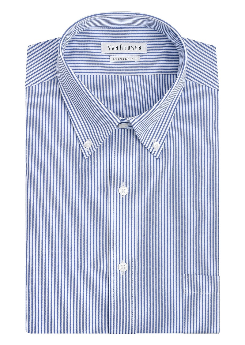 Van heusen van heusen men 39 s pinpoint regular fit stripe for Pinpoint button down dress shirt