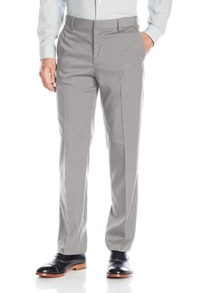 Van Heusen Men's Premium No Iron Straight Solid Fit Flat Front Pant