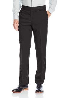 Van Heusen Men's Premium No Iron Straight Solid Fit Flat Front Pant Black