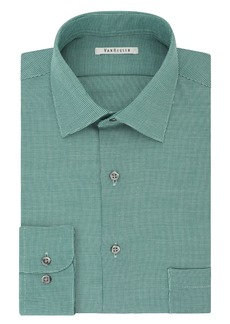 Van Heusen Men's Regular Fit Micro Houndstooth Spread Collar Dress Shirt