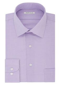 Van Heusen Men's Regular Fit Micro Houndstooth Spread Collar Dress Shirt