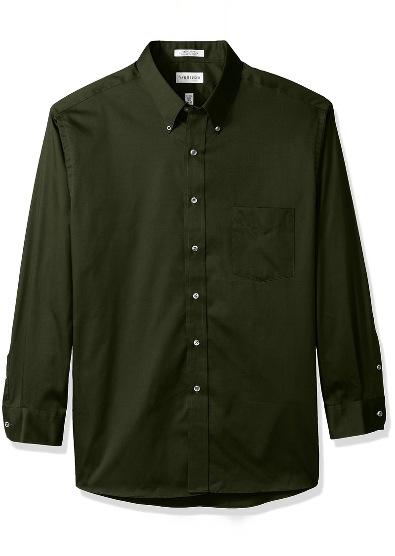 Van heusen van heusen men 39 s regular fit oxford button down for Van heusen men s regular fit pincord dress shirt