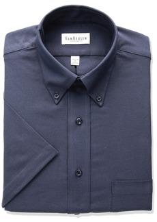 Van Heusen Men's Regular-Fit Oxford Short-Sleeve Button Down-Collar Dress Shirt