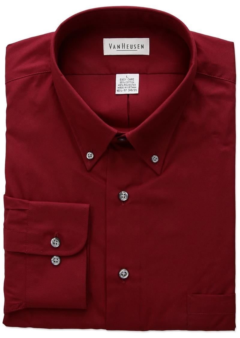 8b21d1a1f8c Van Heusen Men s Regular Fit Silky Poplin Button Down Collar Dress Shirt