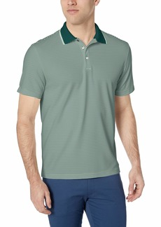 Van Heusen Men's Short Sleeve Air Performance Ottoman Stripe Polo Shirt