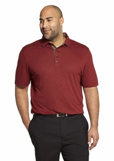 Van Heusen Men's Short Sleeve Air Performance Solid Polo Shirt RED Rusted Root