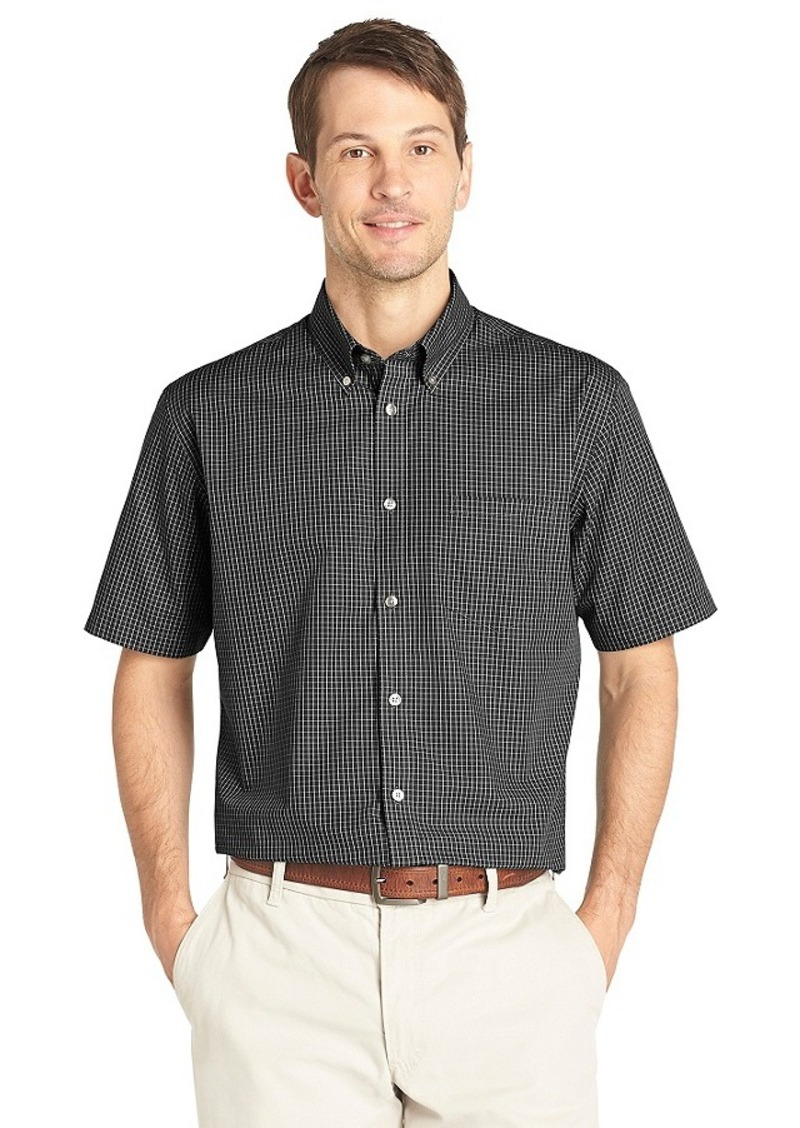 van heusen van heusen men 39 s short sleeve grid no iron
