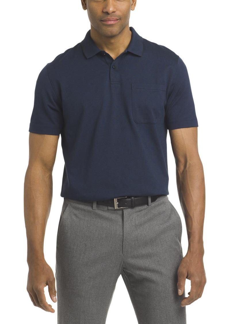 Van Heusen Men's Short Sleeve Jacquard Stripe Polo Shirt