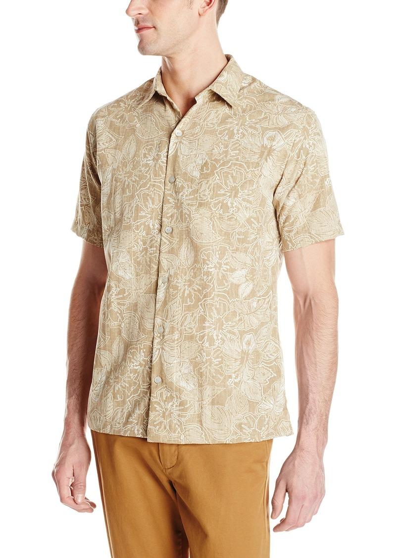Van heusen van heusen men 39 s short sleeve polynesian for Van heusen men s short sleeve dress shirts
