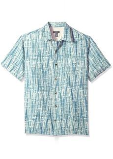 Van Heusen Men's Short-Sleeve Polynesian Printed Shirt jadeite
