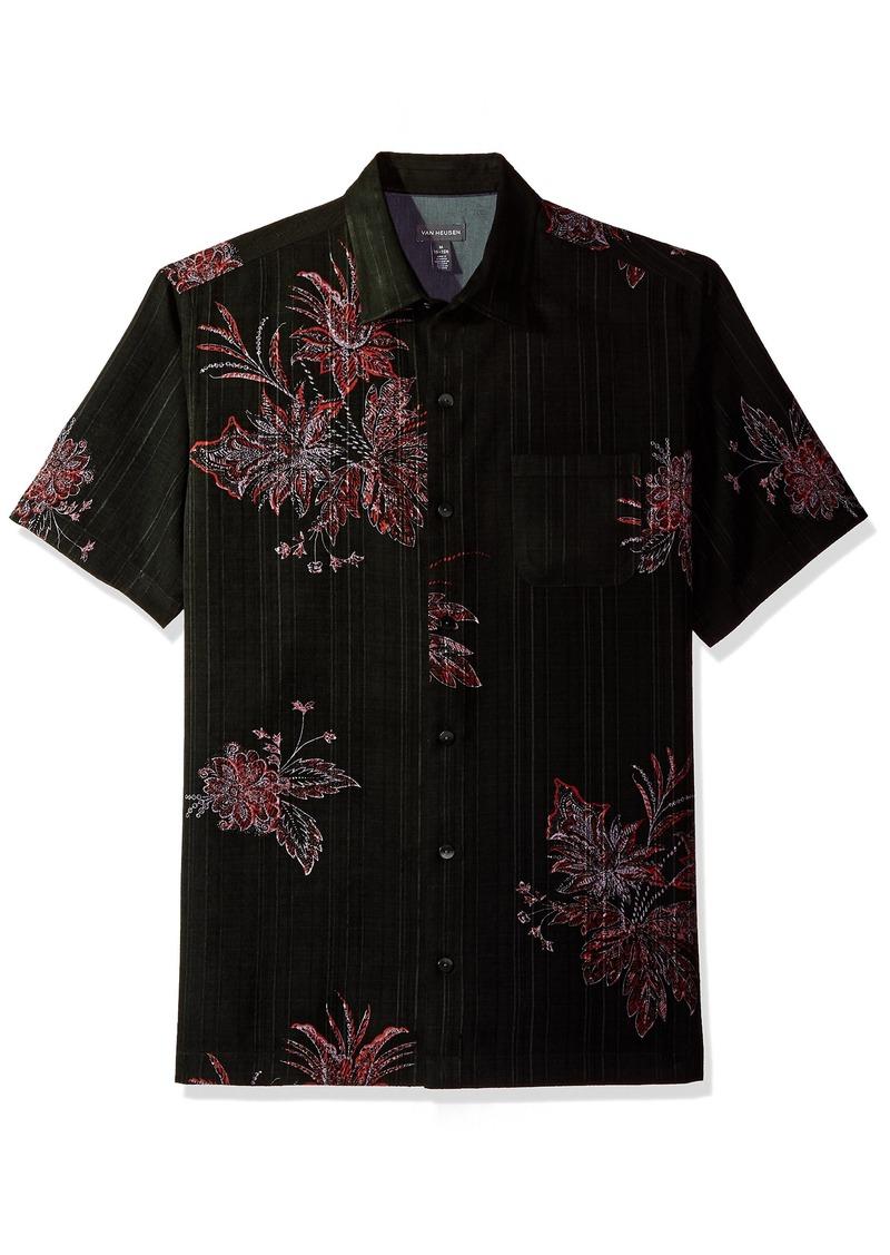 8dd955bf Men's Short-Sleeve Polynesian Printed Shirt red pear 2X-Large