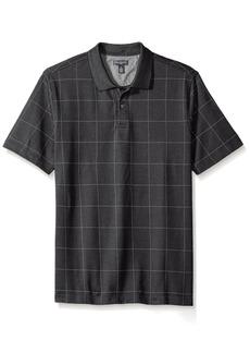 Van Heusen Men's Short Sleeve Printed Windowpane Polo Shirt  2X-Large