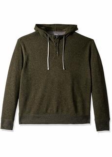 Van Heusen Men's Size Big and Tall Never Tuck Sweater Fleece Hoodie