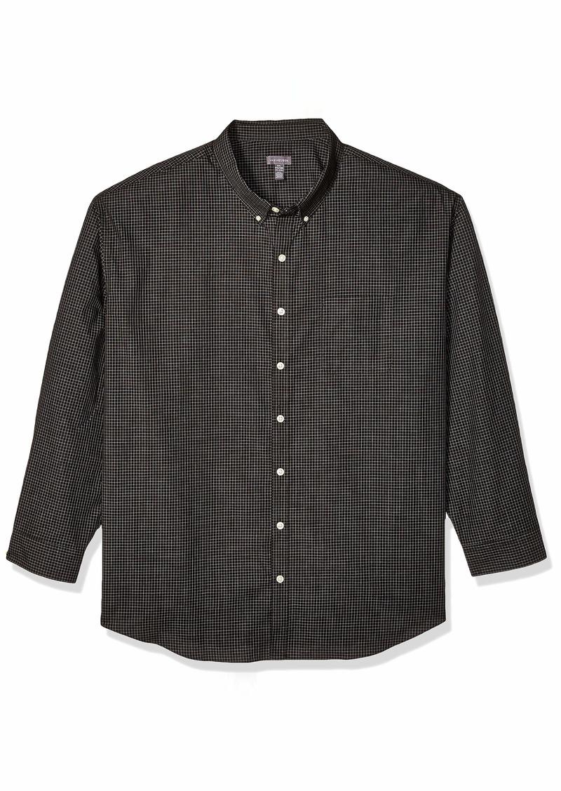 Van Heusen Men's Size Big and Tall Wrinkle Free Poplin Long Sleeve Button Down Shirt  2X-Large