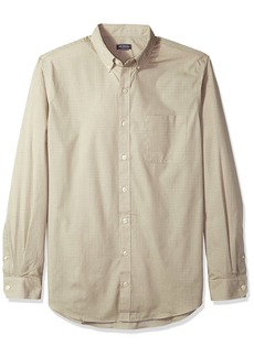 Van Heusen Men's Size Big and Tall Wrinkle Free Poplin Long Sleeve Button Down Shirt  4X-Large