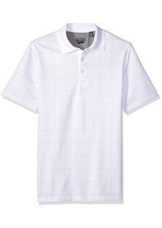 Van Heusen Men's Size Fit Flex Short Sleeve Stretch Windowpane Polo Shirt  2X-Large Tall Slim