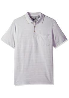 57f4d14b2 Van Heusen Men's Size Slim Fit Flex Short Sleeve Jacquard Stripe Polo Shirt  4X-Large