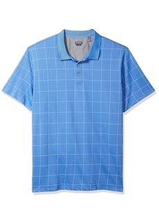 Van Heusen Men's Size Slim Fit Flex Short Sleeve Stretch Windowpane Polo Shirt   Tall Sim
