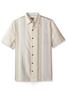 Van Heusen Men's Size Textured Cotton Rayon Short Sleeve Shirt  2X-Large Tall