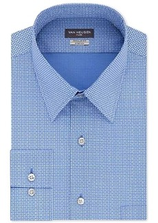 Van Heusen Men's Slim-Fit Flex Collar Poplin Pattern Dress Shirt