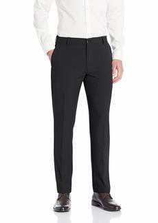 Van Heusen Men's Slim Fit Flex Flat Front Pant BLACK