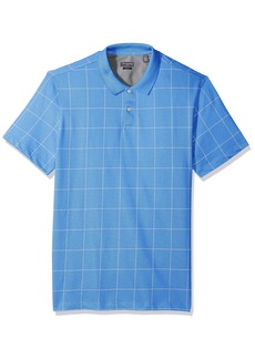 Van Heusen Men's Slim Fit Flex Short Sleeve Stretch Windowpane Polo Shirt