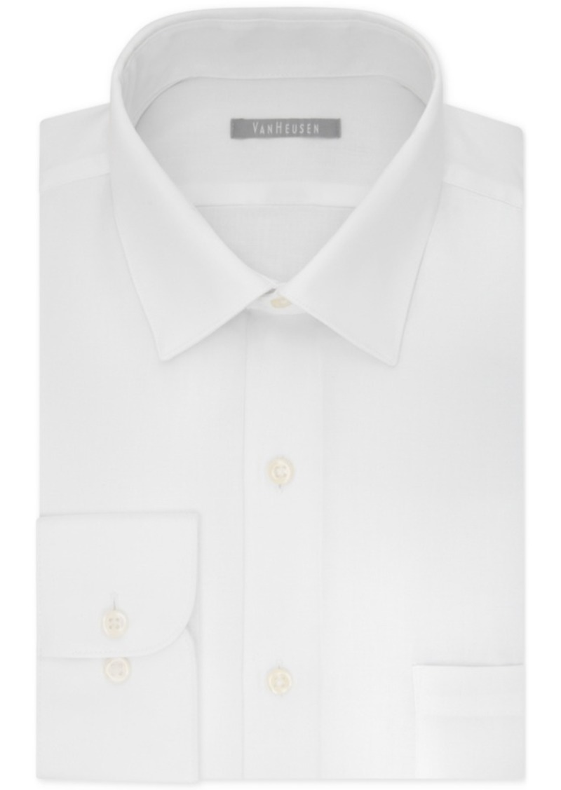 Van Heusen Van Heusen Mens Slim Fit Lux Sateen Solid Dress Shirt