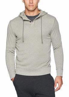 Van Heusen Men's Slim Fit Never Tuck Sweater Fleece Solid Hoodie Pullover