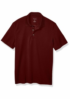 Van Heusen Men's Big and Tall Short Sleeve Air Performance Ottoman Stripe Polo Shirt Red rusted Root 2X-Large Big