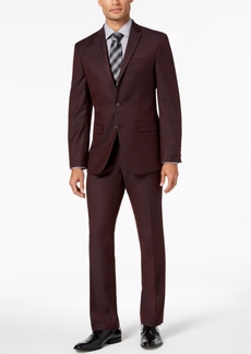 Van Heusen Flex Men's Slim-Fit Stretch Burgundy Solid Suit