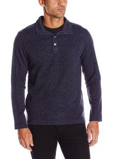 Van Heusen Men's Solid Button Mock Sweater Fleece  2X-Large