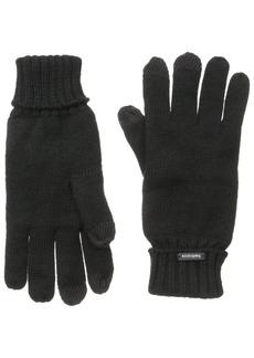 Van Heusen Men's Solid Rib Glove Black
