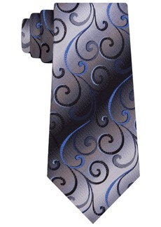 Van Heusen Men's Swirly Vines Silk Tie