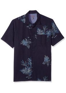 Van Heusen Men's Tall Size Big Oasis Printed Short Sleeve Shirt  3X-Large