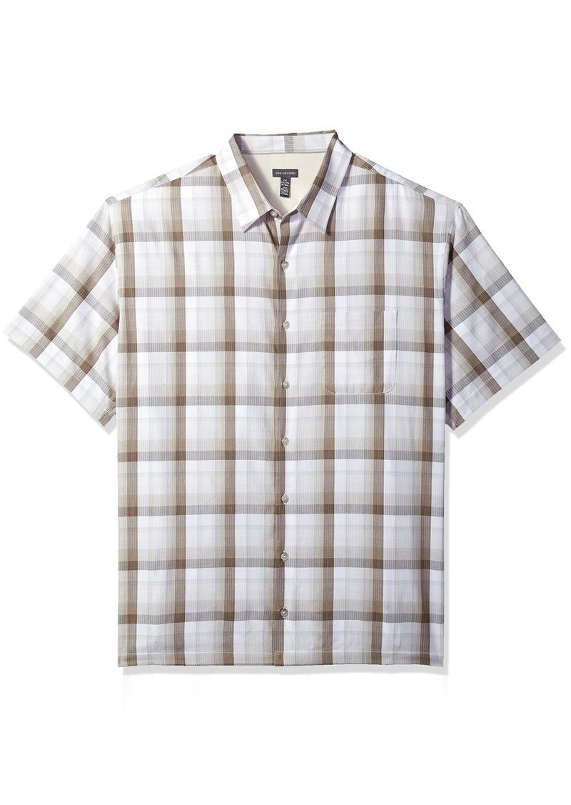 2a7973d6d5f06 Van Heusen Van Heusen Men s Textured Cotton Rayon Short Sleeve Shirt ...