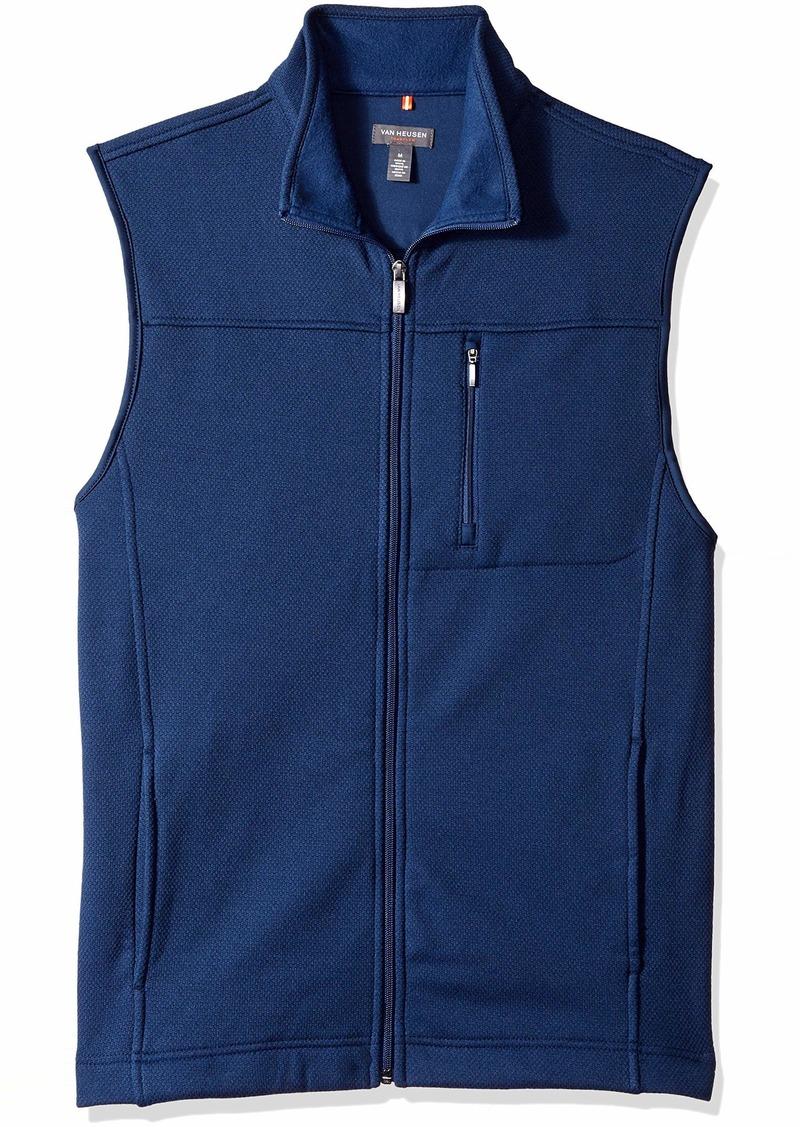 Van Heusen Men's Traveler Full Zip Fleece Vest