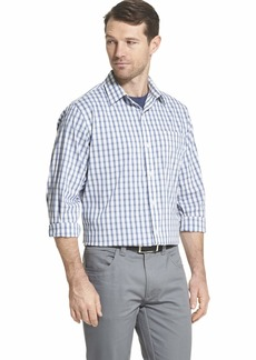 Van Heusen Men's Traveler Non-Iron Plaid Button Down Shirt