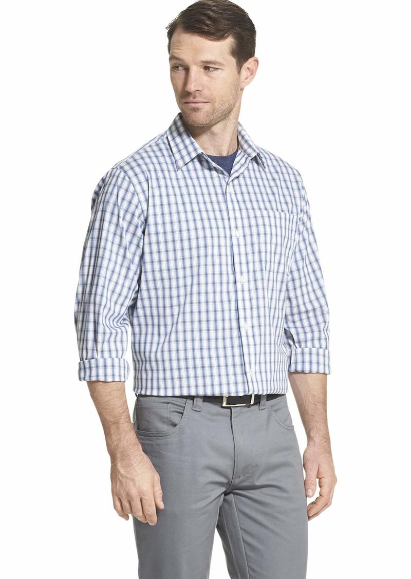 Van Heusen Men's Traveler Non-Iron Plaid Button Down Shirt