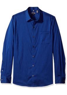 Van Heusen Men's Traveler Slim Stretch Long Sleeve Shirt Stripe Mazarine 2X-Large