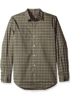 Van Heusen Men's Traveler Stretch Blues Non Iron Long Sleeve Shirt