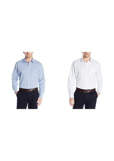 Van Heusen Men's Traveler Stretch Non Iron Long Sleeve Shirt  2X-Large