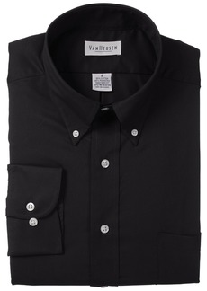 Van Heusen Regular Fit Twill Solid Button Down Collar Dress Shirt