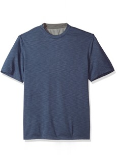 Van Heusen Men's Two Tone Short Sleeve Crew Neck Doubler Tee