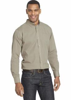 Van Heusen Men's Wrinkle Free Poplin Long Sleeve Button Down Shirt