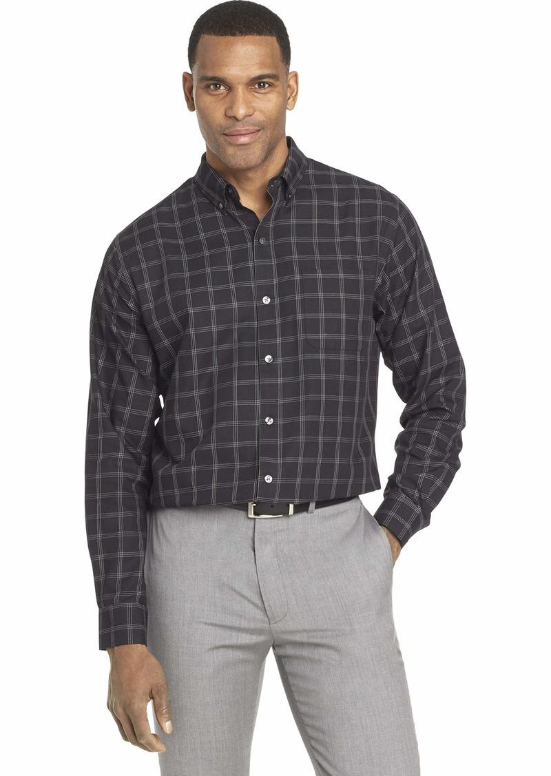 Van Heusen Men's Wrinkle Free Twill Long Sleeve Button Down Shirt
