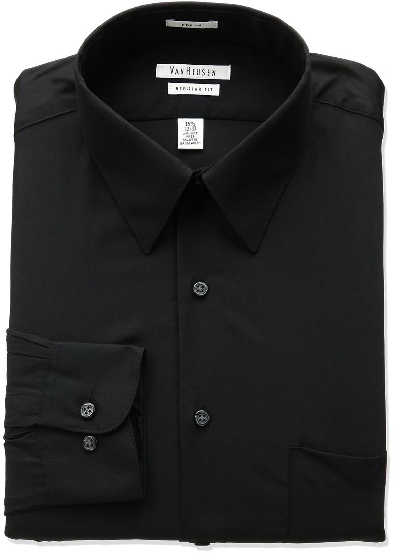 Van Heusen Regular Fit Long Sleeve Dress Shirt BLACK 15.5 Nk 32-33 Sl