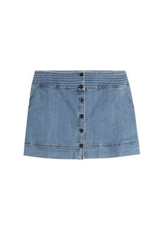 Vanessa Bruno Button Front Jean Skirt